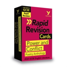 York Notes for AQA GCSE (9-1) Rapid Revision Cards: Power and Conflict AQA Poetry Anthology, Cards Book