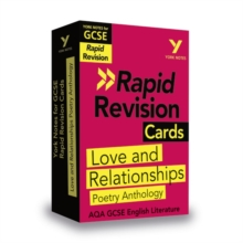York Notes for AQA GCSE (9-1) Rapid Revision Cards: Love and Relationships AQA Poetry Anthology, Cards Book