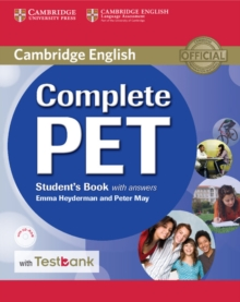 Complete Pet Student's Book with Answers with CD-ROM and Testbank, Mixed media product Book