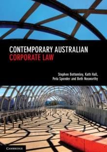 Contemporary Australian Corporate Law, Paperback Book