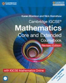 Cambridge IGCSE (R) Mathematics Core and Extended Coursebook with CD-ROM and IGCSE Mathematics Online Revised Edition, Mixed media product Book