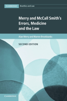 Merry and McCall Smith's Errors, Medicine and the Law, Paperback Book