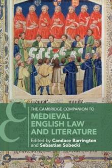 The Cambridge Companion to Medieval English Law and Literature, Paperback / softback Book