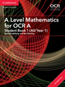 A Level Mathematics for OCR A Student Book 1 (AS/Year 1) with Cambridge Elevate Edition (2 Years), Mixed media product Book