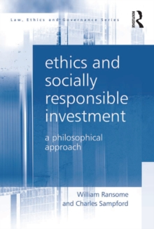 Ethics and Socially Responsible Investment : A Philosophical Approach, EPUB eBook