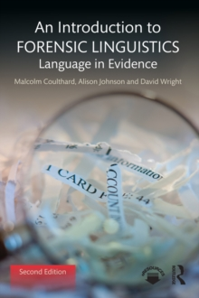 An Introduction to Forensic Linguistics : Language in Evidence, PDF eBook