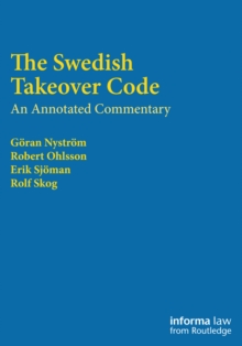 The Swedish Takeover Code : An annotated commentary, PDF eBook