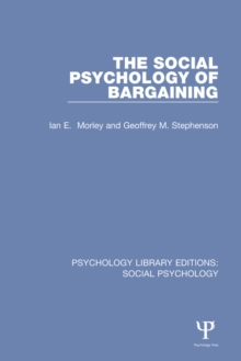 The Social Psychology of Bargaining, EPUB eBook