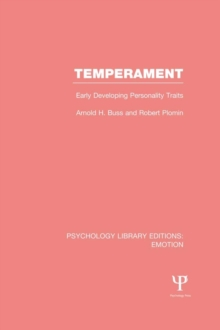 Temperament (PLE: Emotion) : Early Developing Personality Traits, EPUB eBook