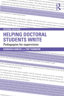 Helping Doctoral Students Write : Pedagogies for supervision, EPUB eBook