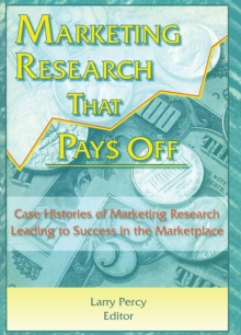 Marketing Research That Pays Off : Case Histories of Marketing Research Leading to Success in the Marketplace, PDF eBook