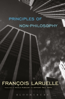 Principles of Non-Philosophy, Paperback Book