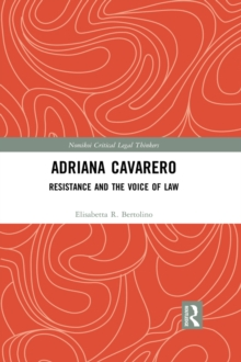 Adriana Cavarero : Resistance and the Voice of Law, PDF eBook
