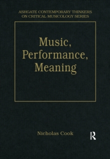 Music, Performance, Meaning : Selected Essays, EPUB eBook
