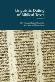 Linguistic Dating of Biblical Texts: Volume 2, EPUB eBook