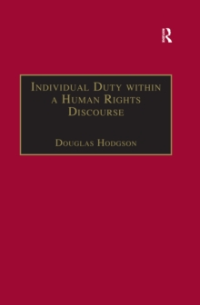 Individual Duty within a Human Rights Discourse, EPUB eBook