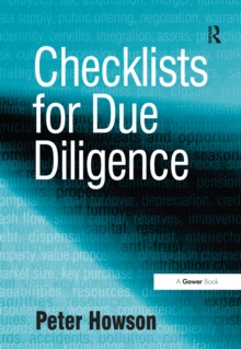 Checklists for Due Diligence, PDF eBook