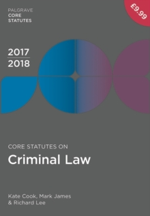 Core Statutes on Criminal Law 2017-18, Paperback Book
