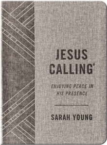 Jesus Calling (Textured Gray Leathersoft) : Enjoying Peace in His Presence (with Full Scriptures), Leather / fine binding Book