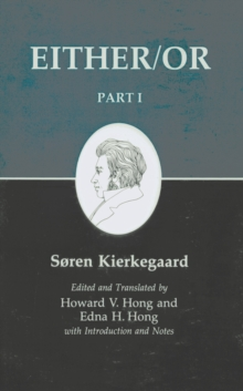 Kierkegaard's Writing, III, Part I : Either/Or, EPUB eBook