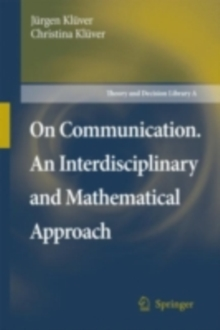 On Communication. An Interdisciplinary and Mathematical Approach, PDF eBook