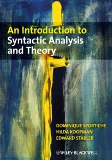 An Introduction to Syntactic Analysis and Theory, Paperback Book