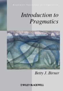 Introduction to Pragmatics, Paperback Book