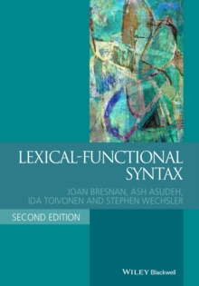Lexical-Functional Syntax, Paperback Book