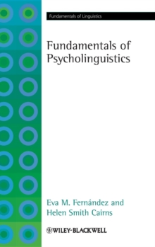 Fundamentals of Psycholinguistics, Hardback Book