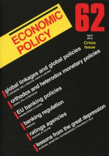 Economic Policy : Financial Crisis Issue No. 62, Paperback Book