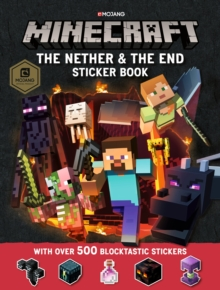 Minecraft The Nether and the End Sticker Book, Paperback Book