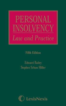 Schaw Miller and Bailey: Personal Insolvency: Law and Practice, Hardback Book