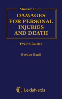 Munkman Damages For Personal Injuries and Death, Hardback Book