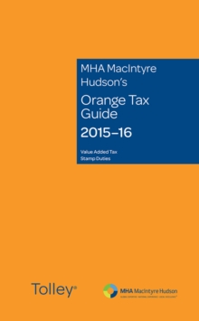 Mha Macintyre Hudson's Orange Tax Guide 2015-16, Paperback Book