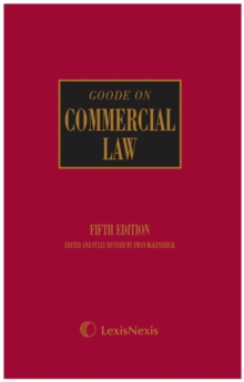 Goode on Commercial Law, Hardback Book
