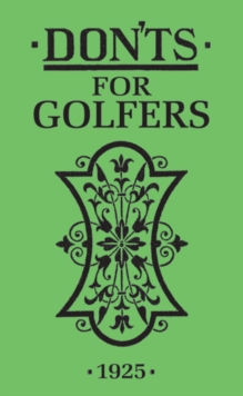 Don'ts for Golfers, Hardback Book