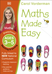 Maths Made Easy Matching And Sorting Preschool Ages 3-5, Paperback Book