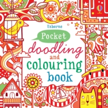 Red Pocket Doodling & Colouring Book, Paperback Book