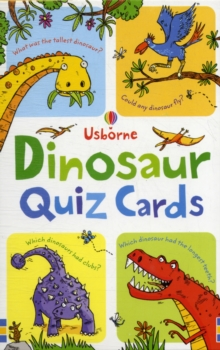 Dinosaur Quiz Cards, Novelty book Book