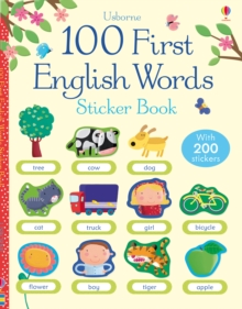 100 First English Words Sticker Book, Paperback Book
