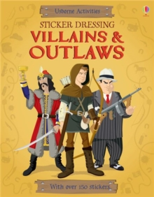 Sticker Dressing Villains & Outlaws, Paperback Book