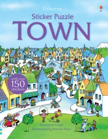 Sticker Puzzle Town, Paperback Book