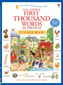 First Thousand Words in French Sticker Book, Paperback Book