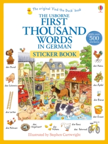First Thousand Words In German Sticker Book, Paperback / softback Book
