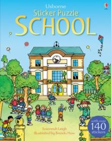 Sticker Puzzle School, Paperback Book
