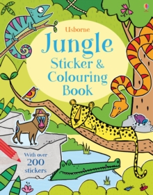 Jungle Sticker and Colouring Book, Paperback Book