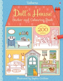 Doll's House Sticker and Colouring Book, Paperback Book