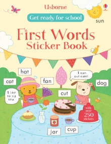 Get Ready for School First Words Sticker Book, Paperback Book