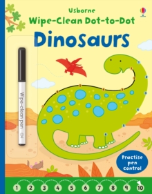 Wipe-Clean Dot-to-Dot Dinosaurs, Paperback Book