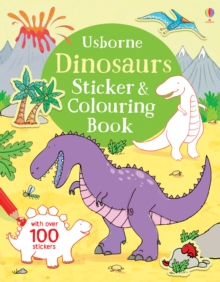 Dinosaurs Sticker and Colouring Book, Paperback Book